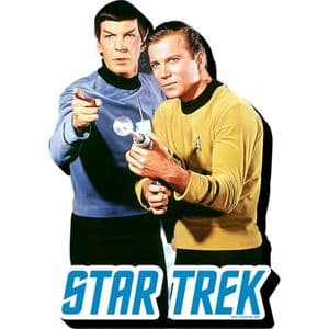 Star Trek Spock and Kirk chunky fridge magnet (nm)