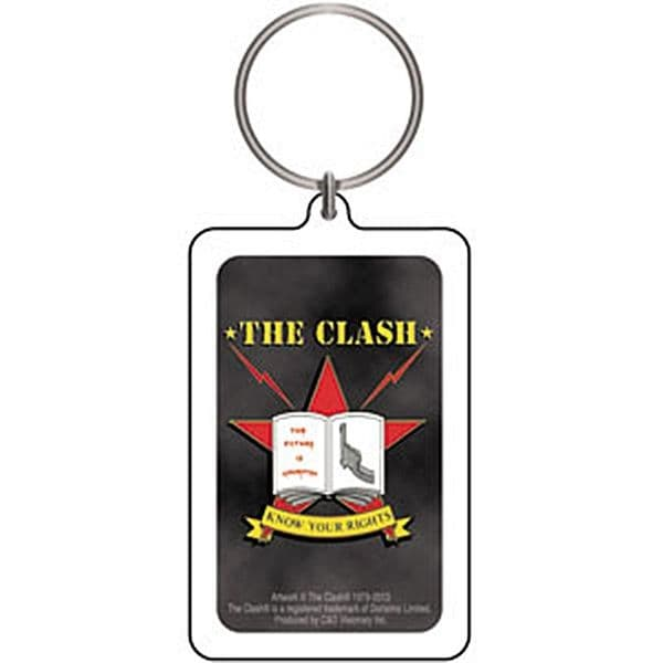 The Clash Know Your Rights acrylic keyring (cv)