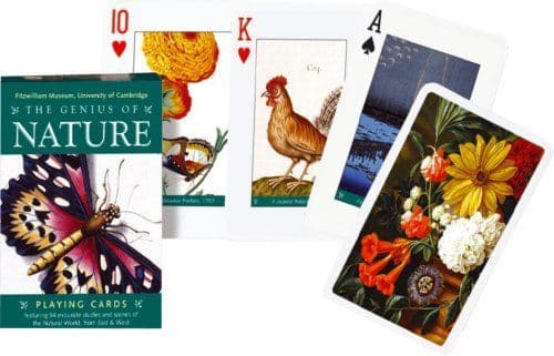The Genius of Nature set of 52 + jokers playing cards    (gib)