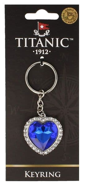 Titanic  Collectors Heart of the Ocean Keyring  (sg)