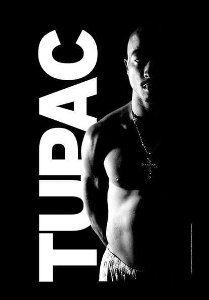 Tupac large fabric poster/ flag 1100mm x 700mm  (hr)