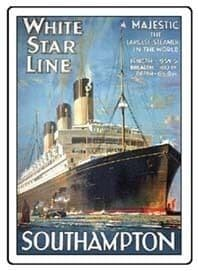 White Star Line Metal Fridge Magnet  (hb)