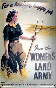 Womens Land Army embossed steel sign 300mm x 200mm (hi)
