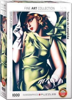 Young Girl in Green by De Lempicka 1000 piece jigsaw puzzle 680mm x 480mm (pz)