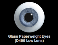 Glass Paperweight Eyes  - D400 Low Lens