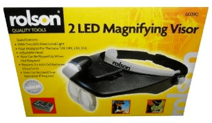MAGNIFYING VISOR WITH 2 LED LIGHTS