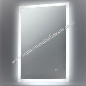 Bathroom Mirror LED perimeter edge light strips  integral shaving socket & bluetooth  FREE rapid delivery