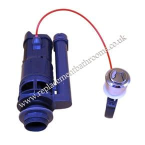 Cable operated dual flush outlet valve