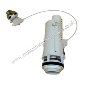 Cable operated dual flush outlet valve with palm push button ( less able use )