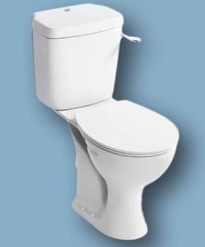 Close coupled WC suite. 480mm RAISED HEIGHT PAN - White
