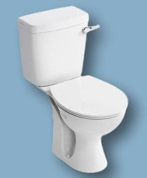 Standard Dual Flush CLOSE COUPLED WC suite ( complete ) - WHITE