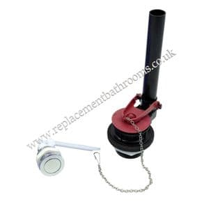 Toilet cistern flapper dual flush valve. Push Button ( Lid mounted ) operated