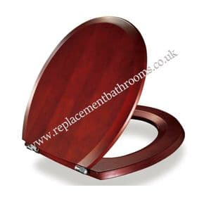 Toilet seat for Trent WAVERLEY WC pans ( solid wood  )