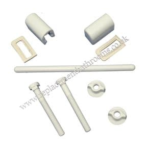 Toilet seat hinge pack (white / single position)