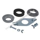 Universal toilet close coupling kit (plate,bolts & washers)