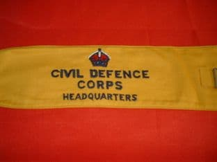 Civil Defence arm band.
