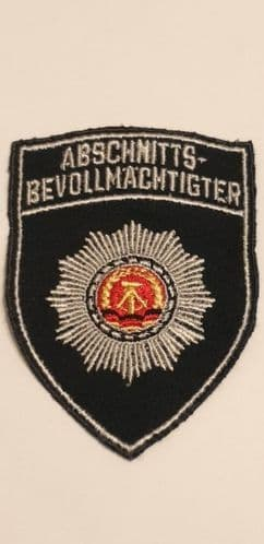 DDR Police patch