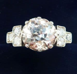 Stunning art deco platinum 3.05ct old cut diamond solitaire vintage antique engagement ring