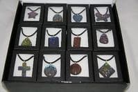 glass necklace choice of designs, jewellery christmas gift, xmas jewelry