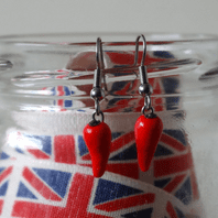 Chilli Pepper Dangle Earrings
