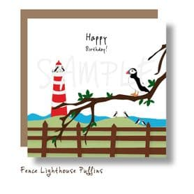 Countryside Puffins Card