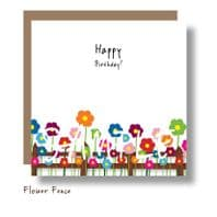Flower Fence Card