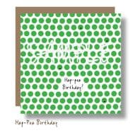 Hap-Pea Birthday Card