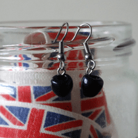 Olive (Black) Dangle Earrings