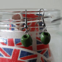 Olive (Green) Dangle Earrings