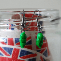 Pea Pod Dangle Earrings