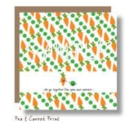 Peas and Carrots Print Card