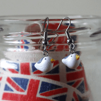 Seagull Bird Dangle Earrings
