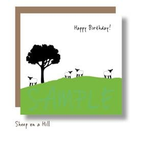 Sheep on a Hill Card