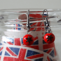Tomato Dangle Earrings