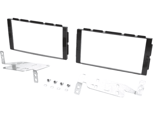 Radio mounting frame; Nissan, 2 DIN; black gloss