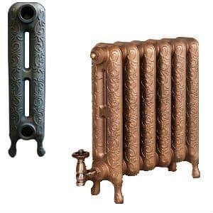 Traditional Art Nouveau Cast Iron Radiators available in two heights to your exact requirements