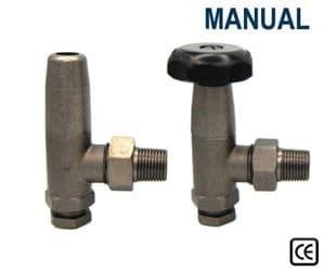 Manual Traditional Radiator Valves - Pewter