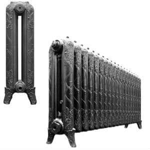 Traditional 660mm Ribbon Cast Iron Radiators assembled and finished to your exact requirements
