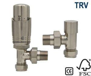 Richmond Thermostatic Radiator Valve - Satin Nickel