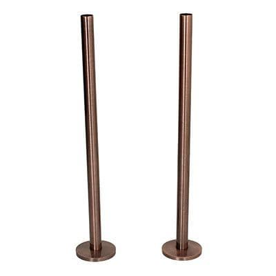 Tails and Decoration Floor Cover Plates 300mm - Antique Copper