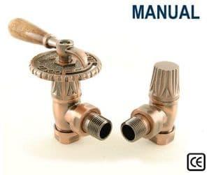 Throttle Manual Radiator Valve - Antique Copper