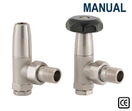 Traditional Manual Radiator Valves - Satin Nickel
