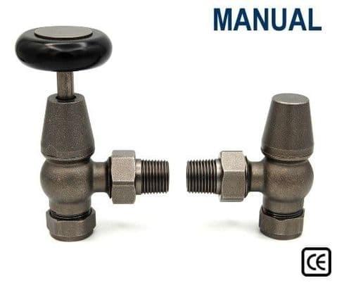 York Manual Radiator Valves - Pewter