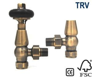 York Thermostatic Radiator Valve - Antique Brass