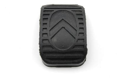 Pedal rubber with chevrons, rectangular.