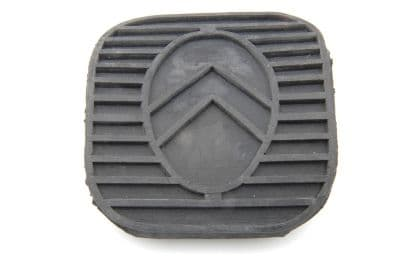 Pedal rubber with chevrons, square