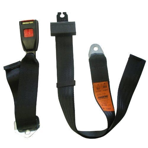 Rear centre lap belt - black modern type