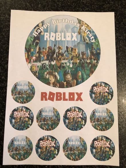 Roblox Cake Topper Bundle