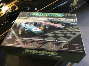 Scalextric C4184A The Genius of Colin Chapman - Lotus GP Triple Pack