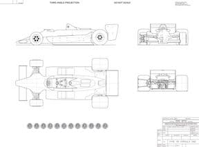 Team Lotus type 79 General Arrangement Drawing